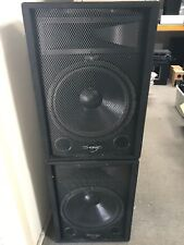 1 Pair of Phonic SEM 715 Pro Audio 2-Way stage wedge monitor speakers