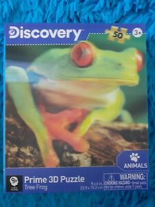 """Discovery Prime 3D Puzzle  RED EYED TREE FROG 🐸 9X6"""" 5O Pieces"""