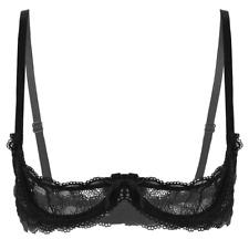 Soutien-gorge coquin dentelle noire ouvert sexy redresse seins