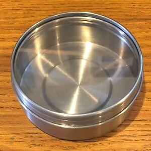 1 -  Ikea Grundtal #20325 Stainless Steel Round Storage Container Magnetic Back