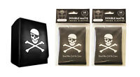 100 Pirate Dead Men Tell MTG Double Matte Image Sleeves plus Deck Box Pokemon