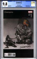 CHAMPIONS #1 CGC 9.8 RAHZZAH VARIANT (Hip Hop WU-TANG CLAN homage Iron Flag)