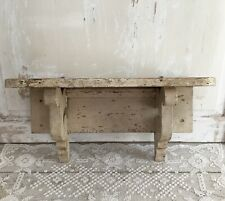 Antique Beige Chippy Ornate Wall Shelf