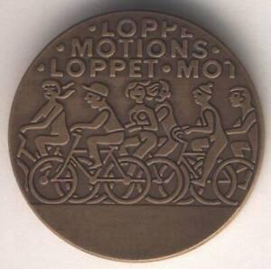 Table medal AC83 Swedish Popular Sports Cycling Bronze 32mm