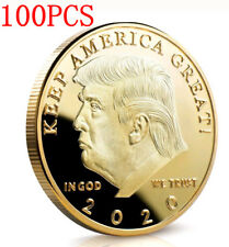 100PCS Donald J Trump 2020 Keep America Great Commander Gold Challenge Coin KY