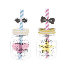 1pcs bottle&straw postcard creative greeting birthday greeting wedding card JH