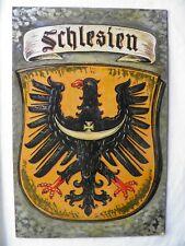 Altes gemaltes Schild Schlesien  Pappschild  39,5 cm x 59,5 cm
