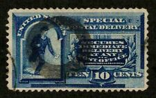 US 1888 #E2 - 10c Special Delivery Thick Ring Fancy Cancel Blue BOB Used