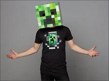 "Minecraft 12"" Creeper Cardboard Head Mask Box Cosplay Costume Halloween Licensed"