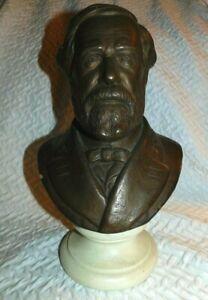 Vintage 1958 Alva Studios Robert E Lee Bust Museum Replica Bust Sculpture Statue