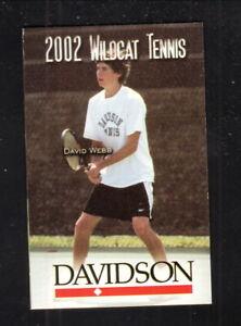 Davidson Wildcats--2002 Tennis Pocket Schedule
