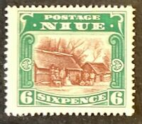 Niue. Six Pence Definitive Stamp. SG42. 1920. Unused Mounted. #AF82.