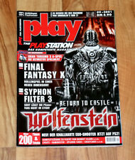 2001 Playstation Magazine Wolfenstein Final Fantasy X 10 Gran Turismo 3 Onimusha