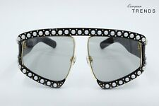 Gucci GG0234S PEARL Black Acetate with Gold Metal Sunglasses %100Authentic