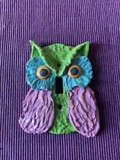 Owl Lavender Green Blue Switch Plate