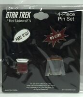Her Universe--Star Trek: The Next Generation 4-piece Lapel Pin Set, New