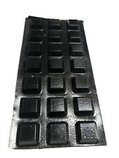 """105 SELF STICK RUBBER Feet 1/2"""" square 1/4"""" thick stick on feet 5 Sheets Of 21"""