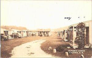RPPC Laconia NH Oliver's Cabins Roadside Motel 1930s