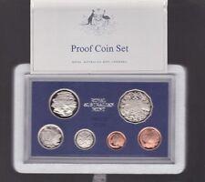 1984 Australia Proof Coin Set in Acrylic Case Foams Certificate has scarce 20