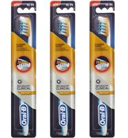 3 x Oral-B TOOTHBRUSH PRO-HEALTH CLINICAL PRO-FLEX WITH FLEXING SIDES MEDIUM NEW