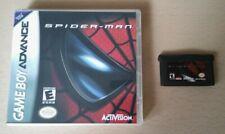 SPIDER-MAN - Nintendo Gameboy Advance Game + Custom Cover GBA MARVEL