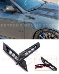 For 09-15 Cadillac CTS-V | GM Factory CARBON FIBER Side Bumper Fender Vents Pair