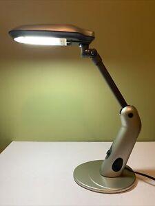 Hampton Bay Modern LED Desk Light Brushed Nickel And Black