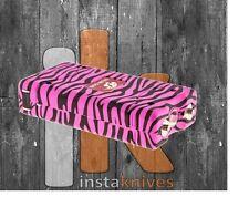 L-100 Cheetah Rechargable Stun Gun With Flashlight In Pink Zebra Print, NIB