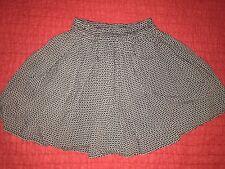 Brandy Melville Black Circle Floral Kaitlee Skirt Mini Skirt 90's Clueless NWOT