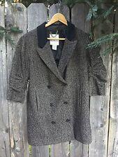 BB Dakota Coat Jacket Blazer Women's Wool Tweed 3/4 Sleeve Button