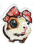 "Hamster Patch Embroidered Iron On Applique 2.50"" X 2.25"" Baby Animals Pink Girl"