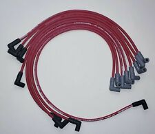CHEVY 327 350 SMALL BLOCK HEI OVER VALVE COVERS 8.5MM RED SPARK PLUG WIRES USA