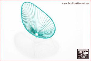 Original Acapulco Chair - türkis weiß - Spaghetti Sessel - Eisen Nylon - Garten