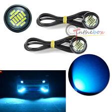 2 Ice Blue 12 4014-SMD LED Eagle Eye Motorcycle Car Parking Fog Backup Light DRL