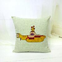Yellow Submarine Pillow Case Lovely Cute Cartoon Pillow Cover 45x45cm Home Decor