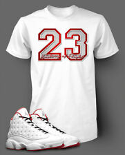 0c0a76875ee 23 Graphic T shirt To match Air Jordan 13 History of Flight shoe Men's Tee  Shirt