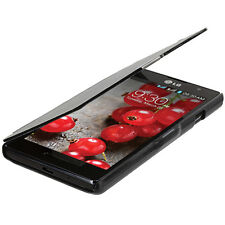 For LG Optimus L9 P769 Wallet Magnetic Flip Closing Hard Case Cover Black