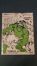 * Gottlieb Incredible Hulk Pinball Instruction Manual *