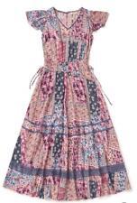 Matilda Jane THE WILDLIFE MAXI Dress XL Boho Patchwork Rayon Womens Camp MJC NWT