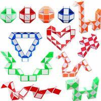 12 Stücke Magic Snake 3D Puzzle Clown Zauber Würfel Schlange Kinder Spiel Twist