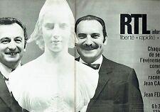 Publicité Advertising 067  1970  radio RTL (2pages)  Jean Fernit & Jean Carlier