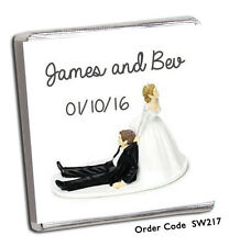 100 PERSONALISED CHOCOLATE WEDDING FAVOURS AND FREE CHOCOLATE!