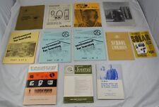 Lot of 12 Vintage Manuals Learning Peabody Leadership Media Solar Library Cc4G7
