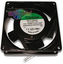 Sunon 92mm x 25mm 110-120 Volt AC Metal Frame B-Bearing Fan SF11592A 1092HBL.GN