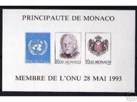 "MONACO STAMP TIMBRE BLOC NON DENTELE 62 a "" ADMISSION A L'ONU ""1993 NEUF xx SUP"