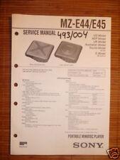 Service-Manual Sony MZ-E44/E45 Minidisk Walkman,ORIGIN