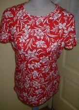 Jones New York Ladies Red & White Tee / Size Large / NWOT
