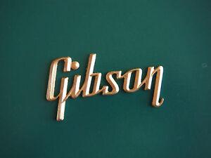 Gibson Amp Logo- gold ( large version )