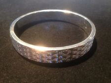 silver clasp bangle with laser cut  patent new for 2015 handmade stunning