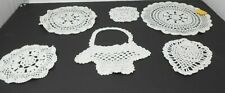 MIXED LOT OF 6 ASSORTED VINTAGE CROCHETED DOILIES